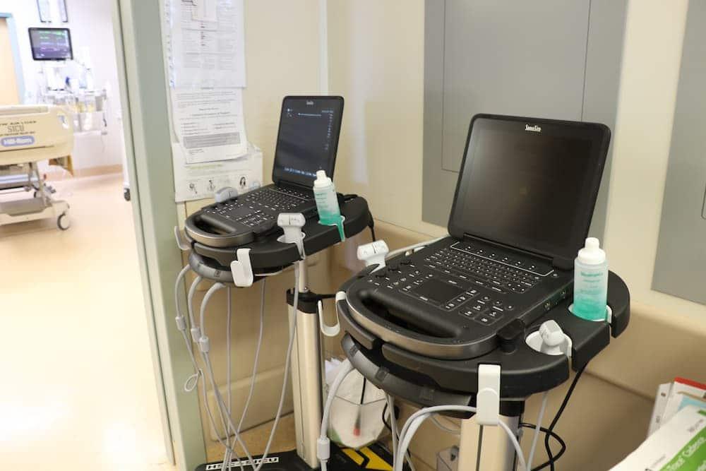 In a hostpital room: edge II ultrasound machines